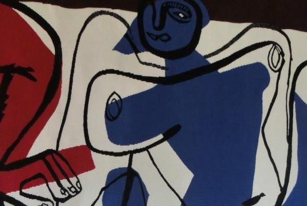 Tissage d'oeuvres d'artistes 2nde moitié du XXème siècle