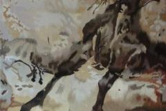 """Tapisserie """"Anamorphose de taureau"""""""